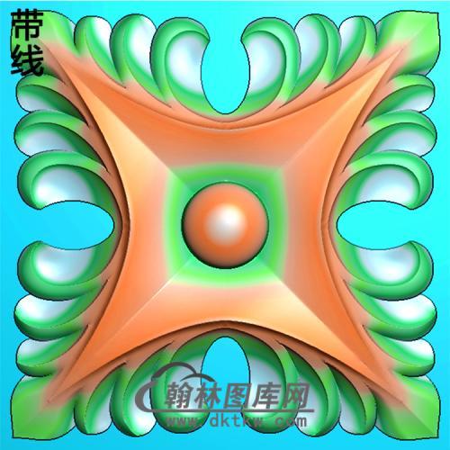 欧式方形洋花精雕图(FXH-211)