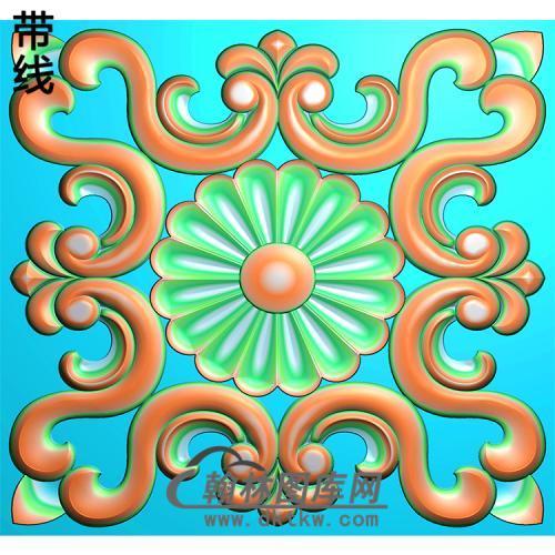 欧式方形洋花精雕图(FXH-257)