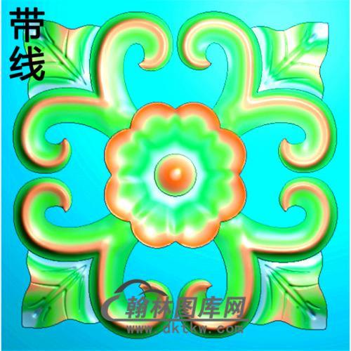欧式方形洋花精雕图(FXH-286)