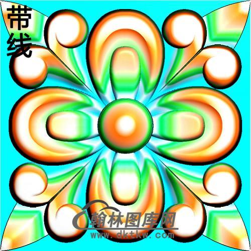 欧式方形洋花精雕图(FXH-325)