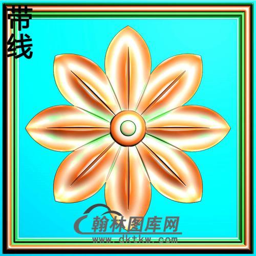 欧式方形洋花精雕图(FXH-327)