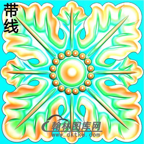 欧式方形洋花精雕图(FXH-329)