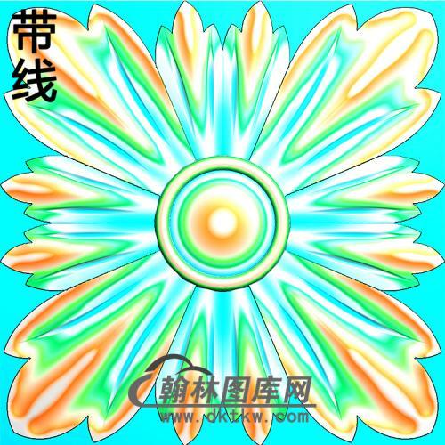 欧式方形洋花精雕图(FXH-330)