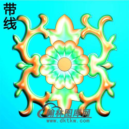 欧式方形洋花精雕图(FXH-331)