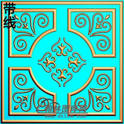 欧式方形洋花精雕图(FXH-332)