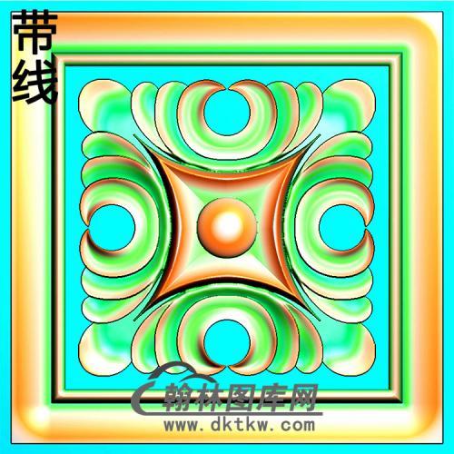 欧式方形洋花精雕图(FXH-333)
