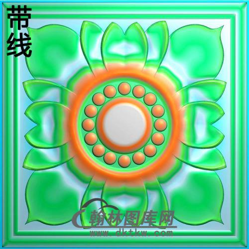 欧式方形洋花精雕图(FXH-334)