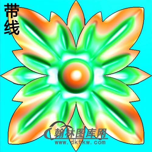 欧式方形洋花精雕图(FXH-337)