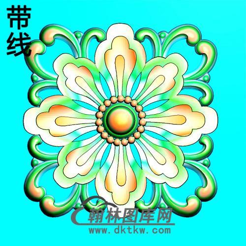 欧式方形洋花精雕图(FXH-338)