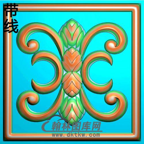 欧式方形洋花精雕图(FXH-339)