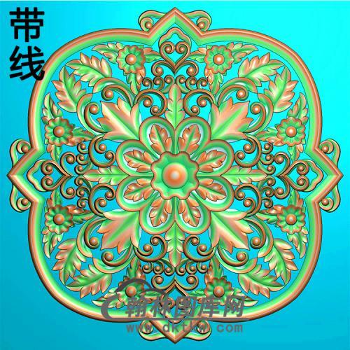 欧式方形洋花精雕图(FXH-341)