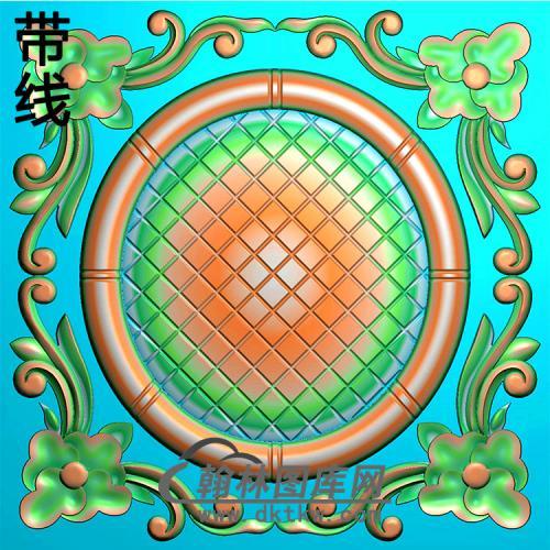 欧式方形洋花精雕图(FXH-342)