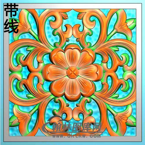欧式方形洋花精雕图(FXH-343)