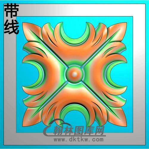 欧式方形洋花精雕图(FXH-344)