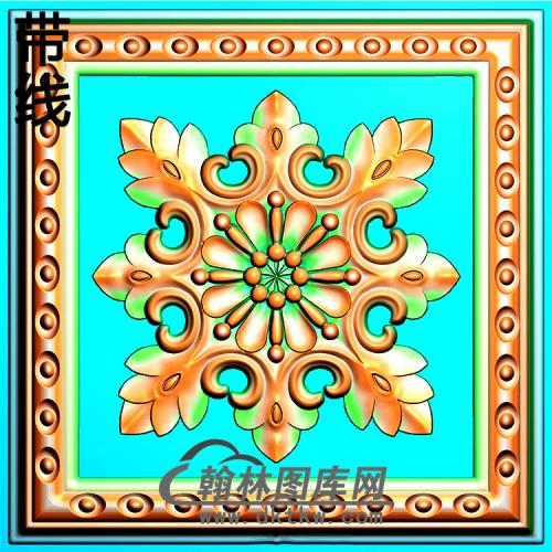 欧式方形洋花精雕图(FXH-346)