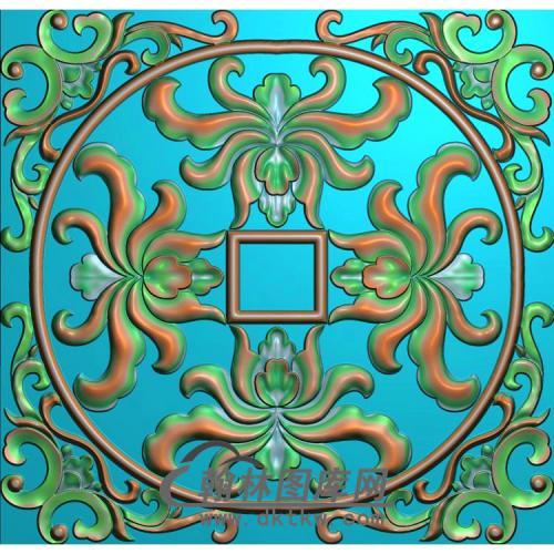 欧式方形洋花精雕图(FXH-348)