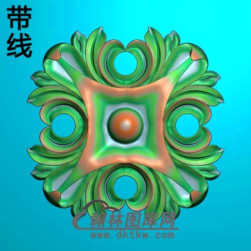 欧式方形洋花精雕图(FXH-352)