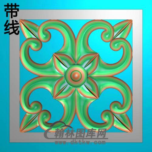 欧式方形洋花精雕图(FXH-353)
