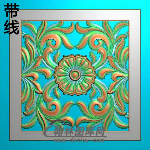欧式方形洋花精雕图(FXH-354)