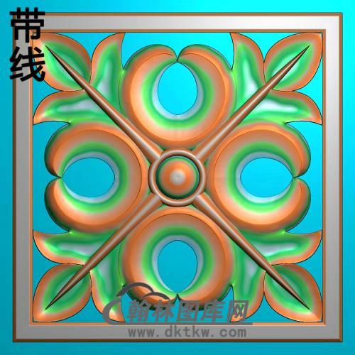 欧式方形洋花精雕图(FXH-355)