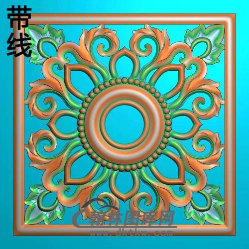 欧式方形洋花精雕图(FXH-358)