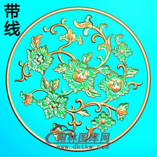 欧式圆形洋花精雕图(YXH-012)