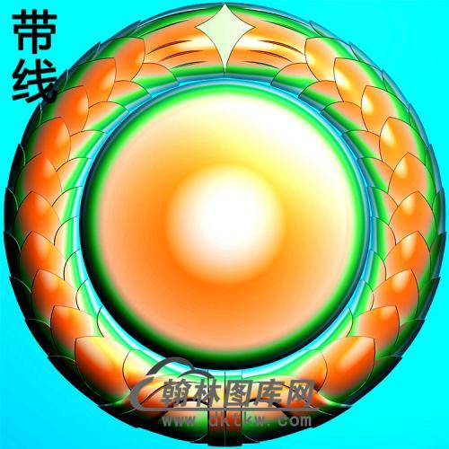 欧式圆形洋花精雕图(YXH-015)