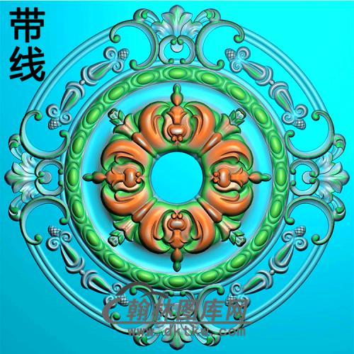欧式圆形洋花精雕图(YXH-037)