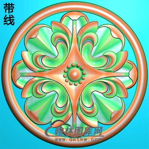 欧式圆形洋花精雕图(YXH-056)