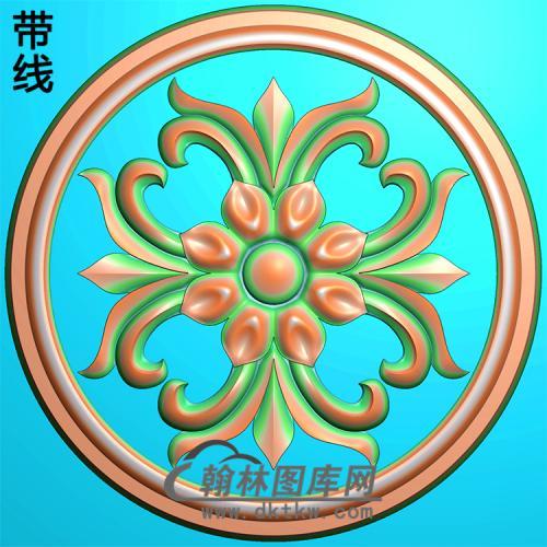 欧式圆形洋花精雕图(YXH-061)