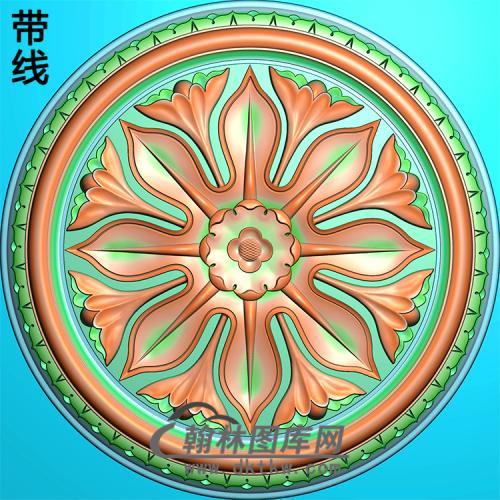 欧式圆形洋花精雕图(YXH-067)