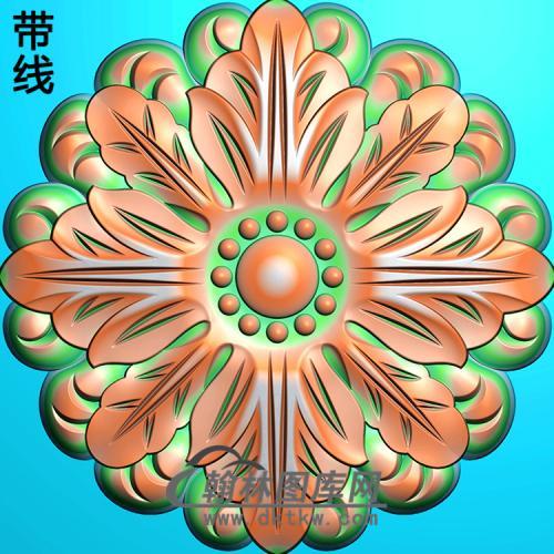 欧式圆形洋花精雕图(YXH-101)