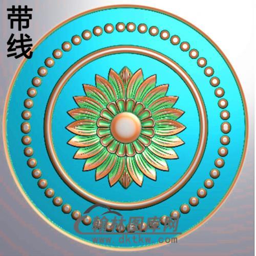 欧式圆形洋花精雕图(YXH-185)