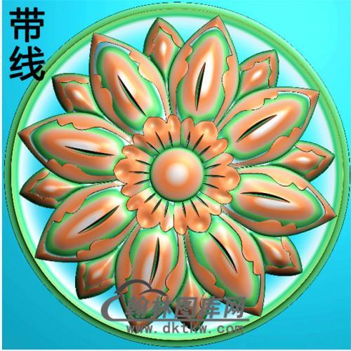 欧式圆形洋花精雕图(YXH-245)