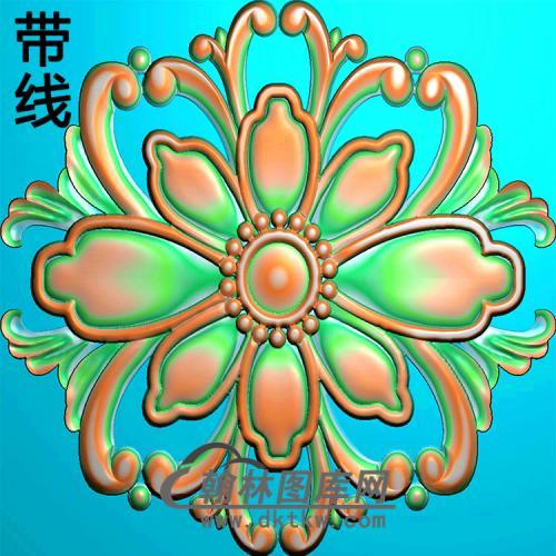 欧式圆形洋花精雕图(YXH-311)
