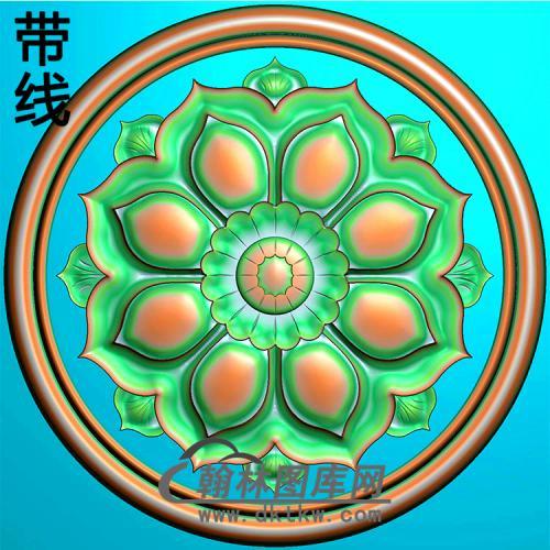 欧式圆形洋花精雕图(YXH-312)