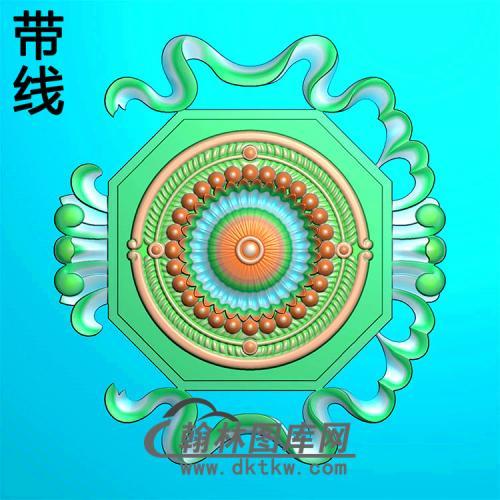 欧式圆形洋花精雕图(YXH-314)