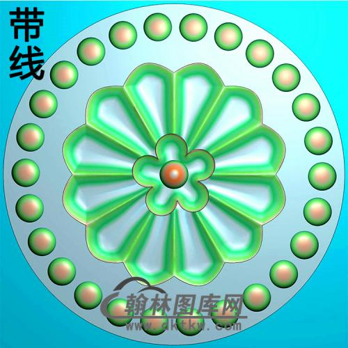 欧式圆形洋花精雕图(YXH-315)