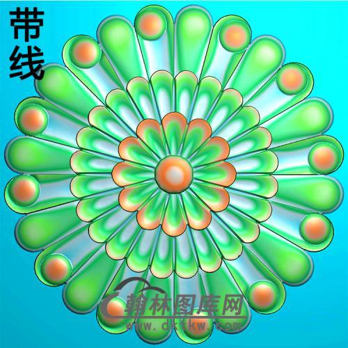 欧式圆形洋花精雕图(YXH-316)