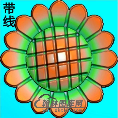 欧式圆形洋花精雕图(YXH-317)
