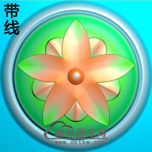 欧式圆形洋花精雕图(YXH-318)