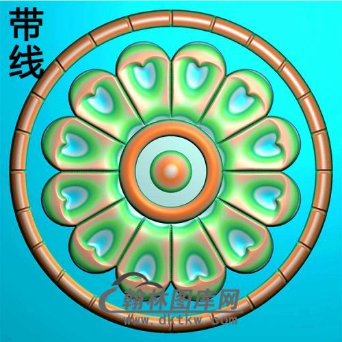 欧式圆形洋花精雕图(YXH-319)