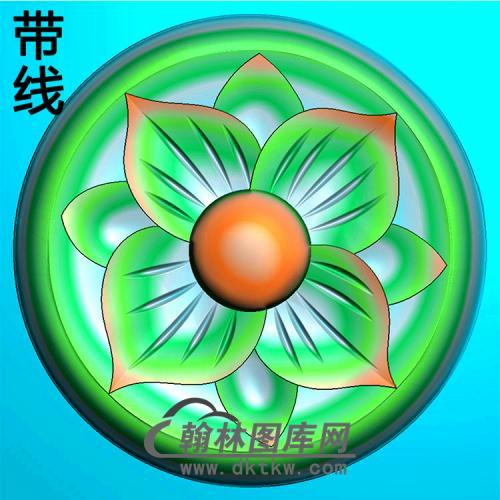 欧式圆形洋花精雕图(YXH-320)