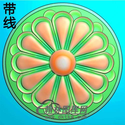 欧式圆形洋花精雕图(YXH-321)