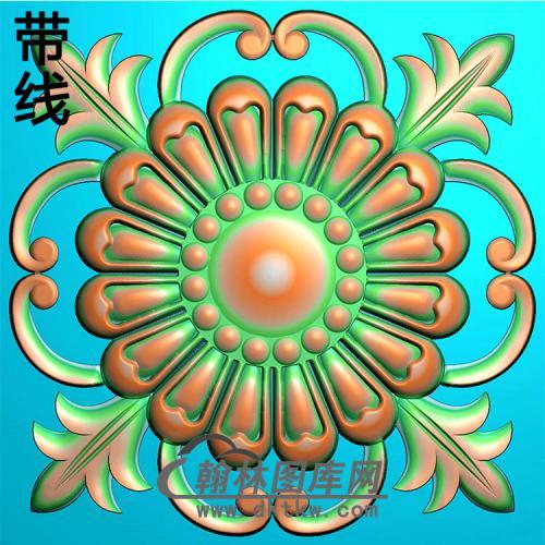 欧式圆形洋花精雕图(YXH-322)