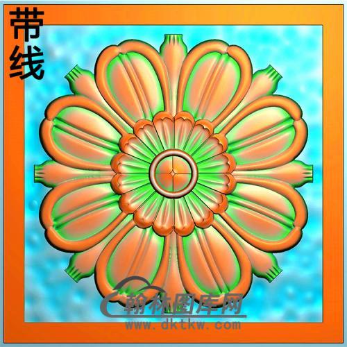 欧式圆形洋花精雕图(YXH-323)