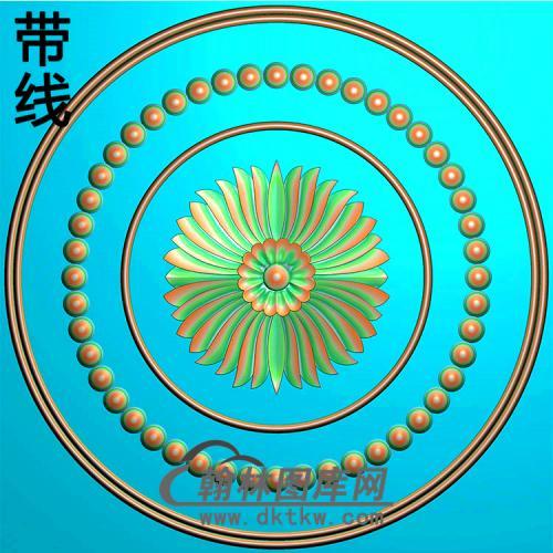 欧式圆形洋花精雕图(YXH-324)