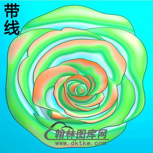 欧式圆形洋花精雕图(YXH-325)