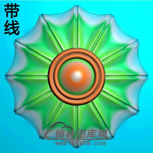 欧式圆形洋花精雕图(YXH-326)