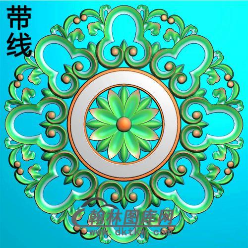 欧式圆形洋花精雕图(YXH-327)